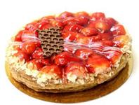 Fruittaart Aardbei (bladerdeeg)